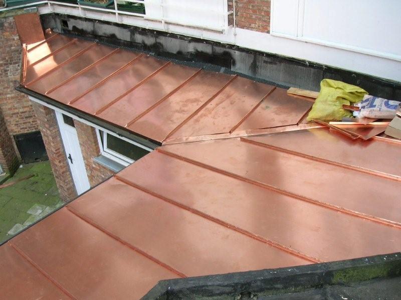 Toiture deby toiture en cuivre pour un particulier for Feuille de cuivre toiture